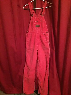 Vintage 70s-80s Red Overalls. Washington Dee Cee