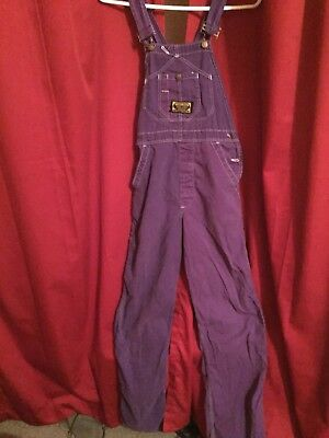 Vintage 70s-80s Purple Overalls. Washington Dee Cee