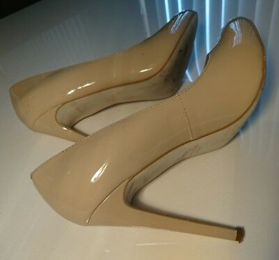 Wittner Taupe Cream Leather Ladies Heels Shoes Size 38 7