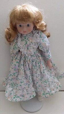 Porcelain Doll with Stand - New In Box