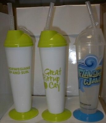 Ncl(Norwegian Cruise Lines) 2 Different Party Plastic Glasses Unused/reusable