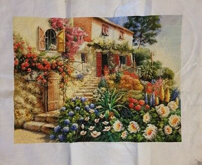 completed cross stitch 52 x 42cm make an offer