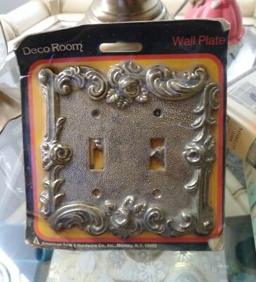 VTG American Tack & Hardware Brass Wall Plate IOP Home Decor DIY Classic Style
