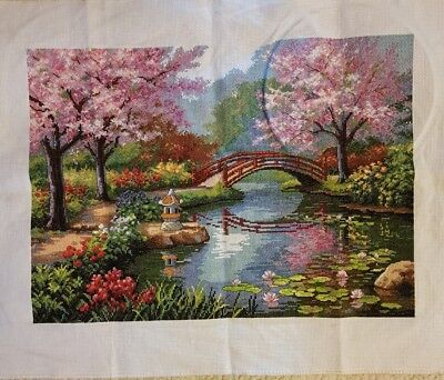completed cross stitch 57 x 45cm make an offer