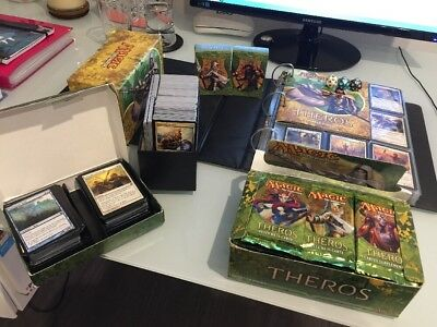MTG Theros Bulk Lot - Almost Complete C/UC Set in Ultra Pro Collectors Album