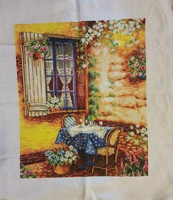 completed cross stitch 40 x 51cm make an offer