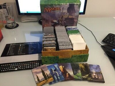 MTG 1000+ Mixed Lands + White/Green/Blue/Clear Card Slips + 6 Dividers w Artwork