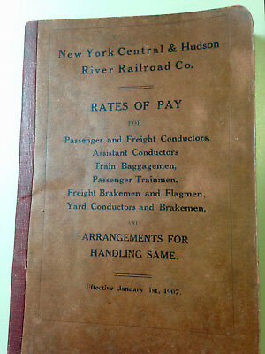 1907 New York Central & Hudson River Railroad Co.Rates of Pay