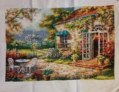 completed cross stitch 60 x 44cm make an offer