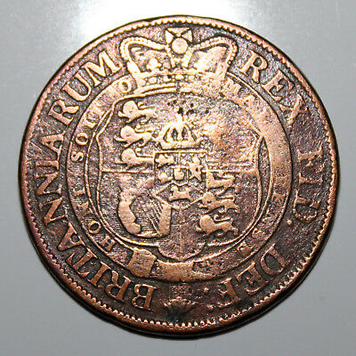 Copper Half Crown - George III 1819 (Contemporary Forgery)