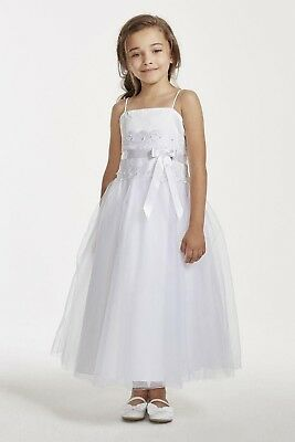 55f2c5ccd597 FLOWER GIRL LACE and Tulle Spaghetti Strap Dress (David's Bridal ...