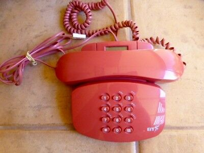 BT Vintage Home TELEPHONE Duet 200 Plus Ex. Conditon 'PINK' from UK.