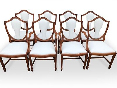 Exclusive CC Designs white real leather/hide Prince of Wales style chairs
