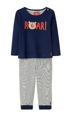 JOULES Baby Boys Byron Roar 2 Piece Set - Top Trousers 100% Cotton - BNWT NEW