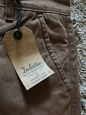 Brand New Mens Boys Industrie Pants Sz 30 Perfect To Cut Off For Shorts Brown 14