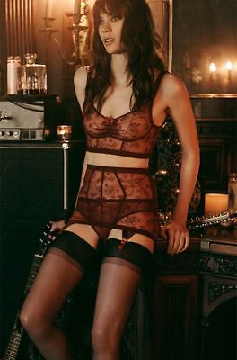 Agent Provocateur Liv Roll On Suspender Burgundy size 2