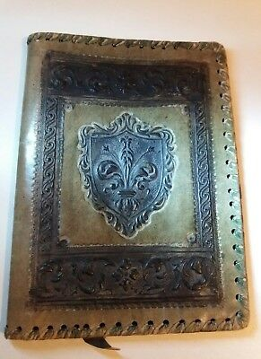VERY OLD / VINTAGE Handmade Genuine Leather Book Cover XMAS GIFT
