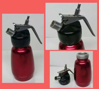 Clover Mini-Mix 1970's Red Anodized Aluminium Whipped Cream Siphon / Syphon