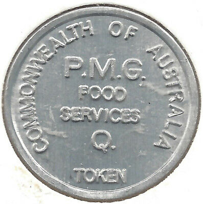Commonwealth Of Australia P.M.G. Food Services Q. Token Blank Reverse Round