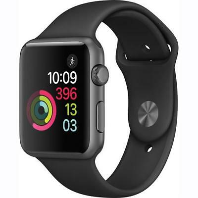 Apple Watch Series 2 42Mm Space Gray Aluminum Case Black Sport Band Mp062Ll/a