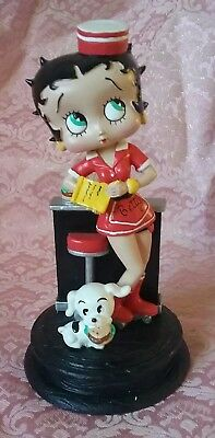 """RARE 2006 CROCE COLLECTION BETTY BOOP FIGURINE """"BETTY'S DINER"""" 15cms NEW IN BOX"""