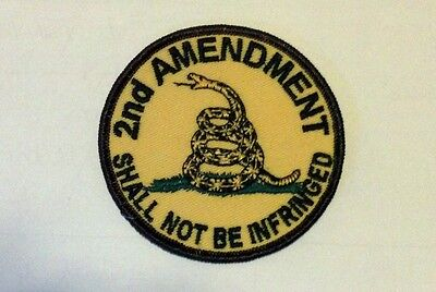 2nd Amendment Shall Not Be Infringed Second Amendment Embroidered Biker Patch