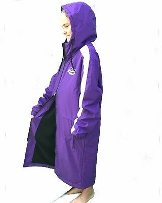 Swim Parka New Range Wazsup  Purple XS (pool deck coat, swim jacket, beach robe)