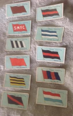 Havelock/Vice-Regal Football team flags & rules cigarette cards 1908 Lot of 11