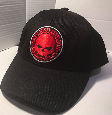 Harley Davidson  Baseball cap motorbike motorcycle Embroidered Patch skull