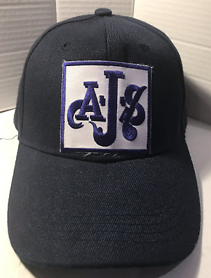 AJS Baseball cap motorbike motorcycle Embroidered Patch Vintage