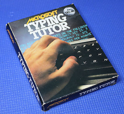 Microsoft Typing Tutor for TRS-80 on Cassette Level II 16K in Box with Manual