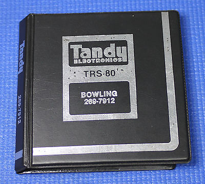 Tandy Radio Shack TRS-80 Bowling Game on Cassette 269-7912 Level II 16K