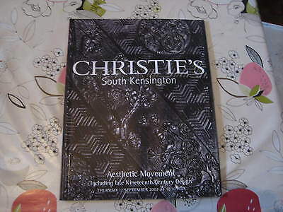 Christies Catalogue Sept02 Aesthetic Movement Inc 19Th Century Design