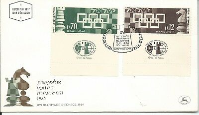 1964 FDC The 16th Chess Olympics FDI 2 Nov 1964