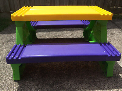 Childrens Outdoor Plastic Table and Chair Set