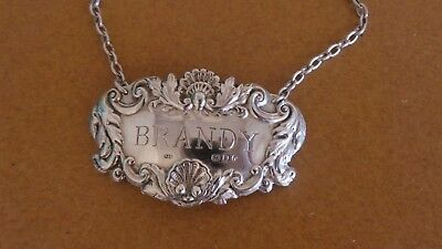Sterling Silver Brandy Label Full English Hall Marks