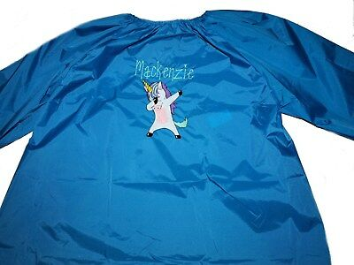 Personalised Art Smock - Girls Dabbing Unicorn