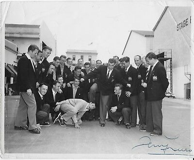 Super Rare 1950 Manchester United In Los Angeles Photo-Player Owned-Autographed
