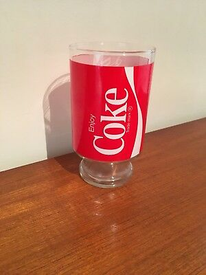 Vintage Coca Cola Coke Glass Jug 1980's