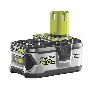 GENUINE Ryobi RB18L50 ONE+ 5.0 Ah Lithium Battery 18V  Brand New In Packaging