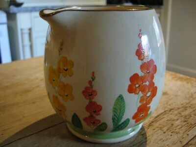 ART DECO GRAYS Susie Cooper style JUG HAND PAINTED SUN BUFF