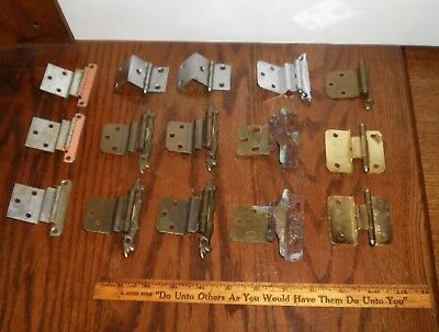 Lot Of 15 Mixed Vintage Drawer Kitchen Cupboard Cabinet Door Hinges 7 Styles