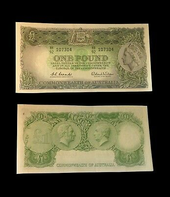 1961 Australian Currency One Pound Extra Fine Bank Note Coombs/Wilson