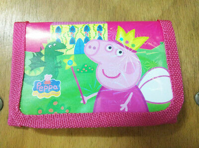 Children Nursery Peppa Pig Coin Money Pouch Bags Purse Wallet Gift Red a