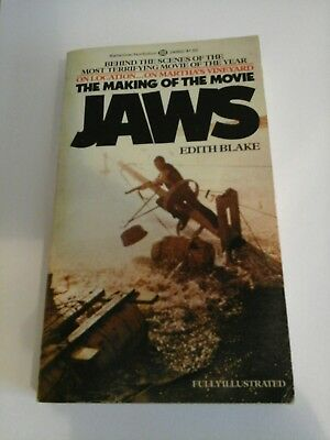 THE MAKING OF THE MOVIE JAWS by EDITH BLAKE PAPERBACK STEVEN SPIELBERG