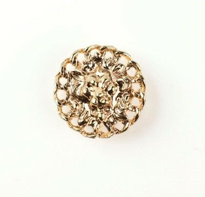 30mm Round Vintage Gold Lion Head Decorative Button Covers (Clip-on)