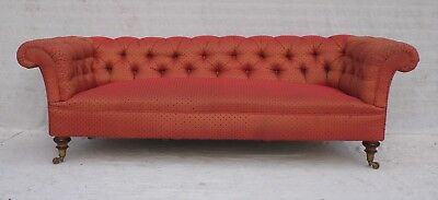 STYLISH VICTORIAN EDWARDIAN HOWARD & SONS ANTIQUE CHESTERFIELD SOFA c1890