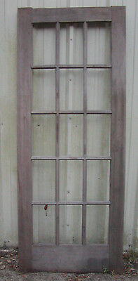 15 Pane Large Farmhouse Vintage Antique Shabby Chic Window Frame - Without Glass