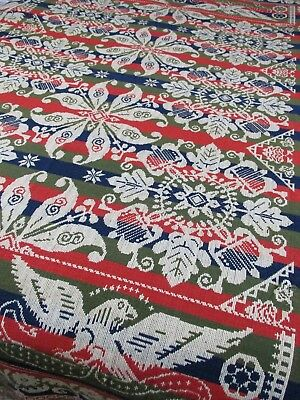 Fine Antique 1850's B. LICHTY New Berlin Ohio Eagle,Star Medallion Bed Coverlet