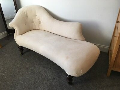 Vintage Chaise Longue. Edwardian? Reupholstery Project.